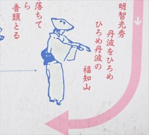 「明智光秀 丹波をひろめ ひろめ丹波の 福知山」光秀を歌った一節である。